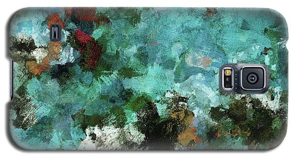 Galaxy S5 Case featuring the painting Unique Abstract Art / Landscape Painting by Ayse Deniz