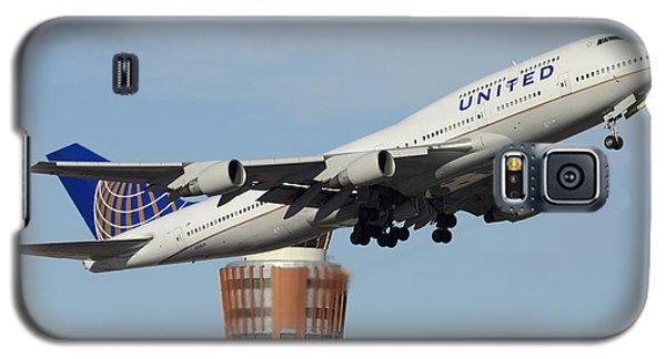United Boeing 747-422 N128ua Phoenix Sky Harbor January 2 2015 Galaxy S5 Case