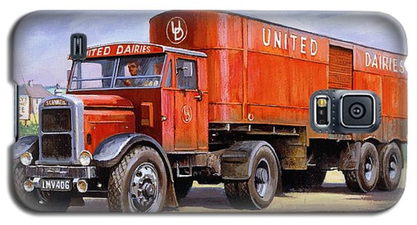United Dairies Scammell. Galaxy S5 Case by Mike  Jeffries