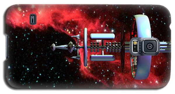 United Earth Space Federation Star Ship Hawkins 2 Galaxy S5 Case
