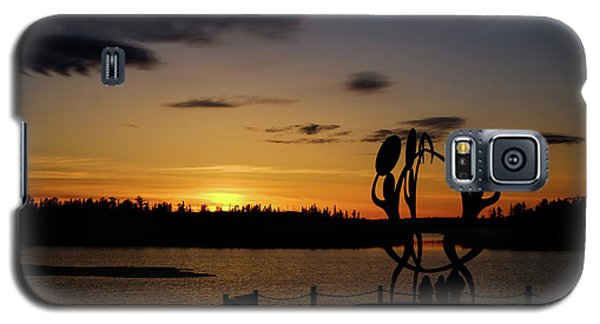United In Celebration Sculpture At Sunset 6 Galaxy S5 Case by John McArthur