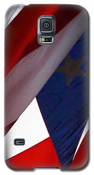 United States Flag Abstract Galaxy S5 Case by Linda Phelps