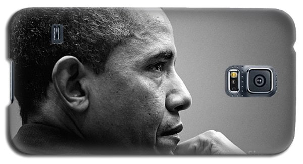 United States President Barack Obama Bw Galaxy S5 Case by Celestial Images