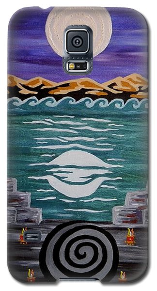 Galaxy S5 Case featuring the painting Unthought Known by Carolyn Cable