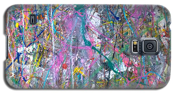 Galaxy S5 Case featuring the painting Untitled - Abstract by Robert Anderson