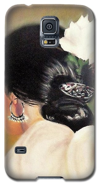 Untitled Dancer With White Flower Galaxy S5 Case
