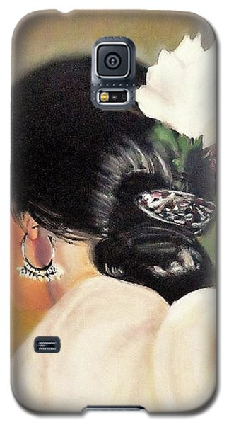 Untitled Dancer With White Flower Galaxy S5 Case by Manuel Sanchez