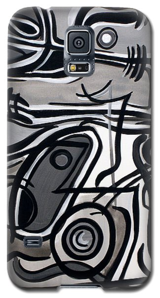 Galaxy S5 Case featuring the painting Untitled Gray by Lynda Lehmann