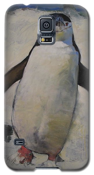 Galaxy S5 Case featuring the painting Untitled Unfinished Chinstrap by Cliff Spohn