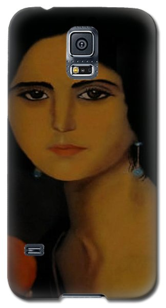Untitled Woman With Orange Galaxy S5 Case