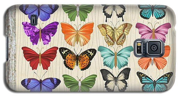 Unusual Colourful Butterfly Collage Galaxy S5 Case