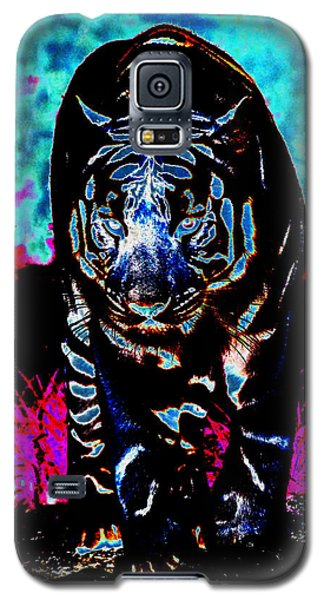 Galaxy S5 Case featuring the photograph Unusual Tiger On The Prowl by Maggy Marsh