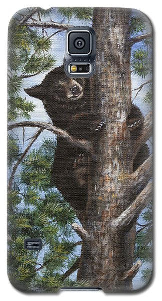 Galaxy S5 Case featuring the painting Up A Tree by Kim Lockman
