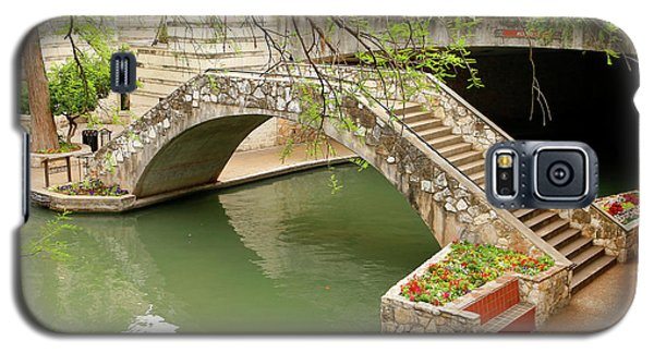 Galaxy S5 Case featuring the photograph Up And Over - San Antonio River Walk by Art Block Collections