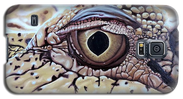 Galaxy S5 Case featuring the painting Up Closn 'n'personal by Dianna Lewis