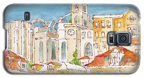 Galaxy S5 Case featuring the painting Up From Rossio Square by Pat Katz