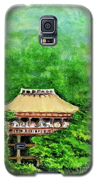 Galaxy S5 Case featuring the painting Up High Temple by Yoshiko Mishina