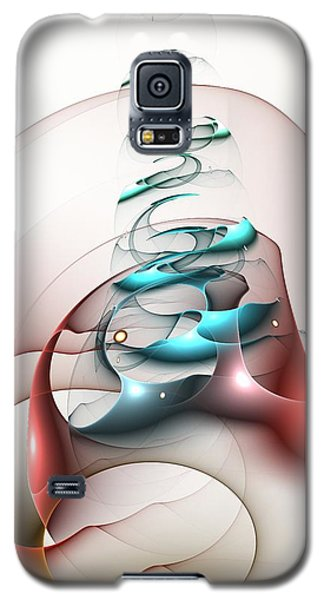 Galaxy S5 Case featuring the digital art Up In The Air  by Anastasiya Malakhova
