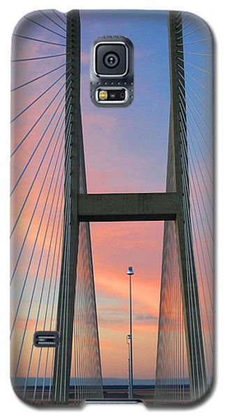 Galaxy S5 Case featuring the photograph Up On The Bridge by Kathryn Meyer