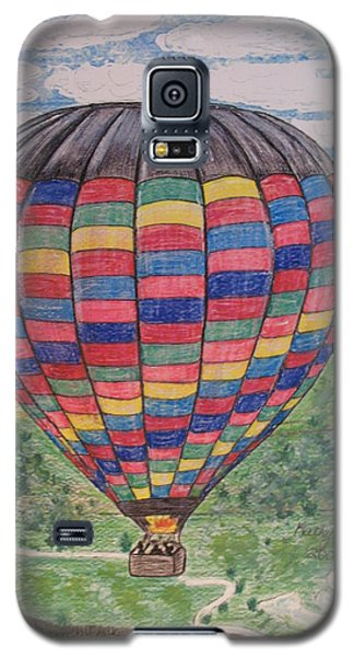 Galaxy S5 Case featuring the painting Up Up And Away by Kathy Marrs Chandler
