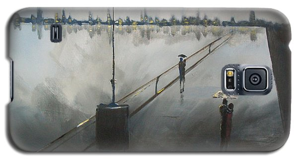 Galaxy S5 Case featuring the painting Upon The Boardwalk by Raymond Doward