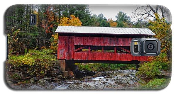 Upper Cox Brook Covered Bridge In Northfield Vermont Galaxy S5 Case