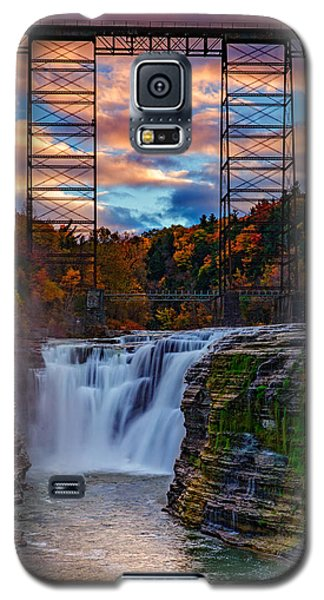 Upper Falls Letchworth State Park Galaxy S5 Case by Rick Berk