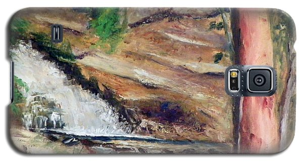 Galaxy S5 Case featuring the painting Upper Provo River Falls by Sherril Porter