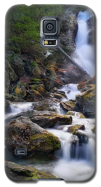 Galaxy S5 Case featuring the photograph Upper Race Brook Falls 2017 by Bill Wakeley