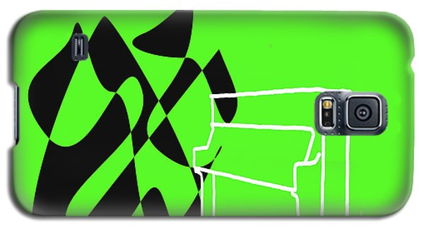 Galaxy S5 Case featuring the digital art Upright Piano In Green by Jazz DaBri