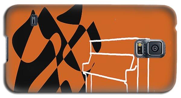 Galaxy S5 Case featuring the digital art Upright Piano In Orange by Jazz DaBri