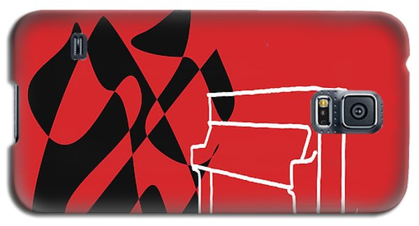 Galaxy S5 Case featuring the digital art Upright Piano In Red by Jazz DaBri