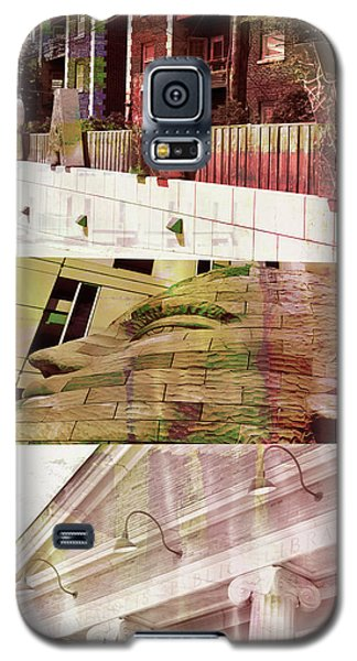 Galaxy S5 Case featuring the photograph Uptown Library With Color by Susan Stone