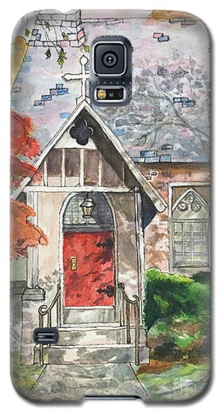 Galaxy S5 Case featuring the painting Urban  Church Sketching by Lucia Grilletto