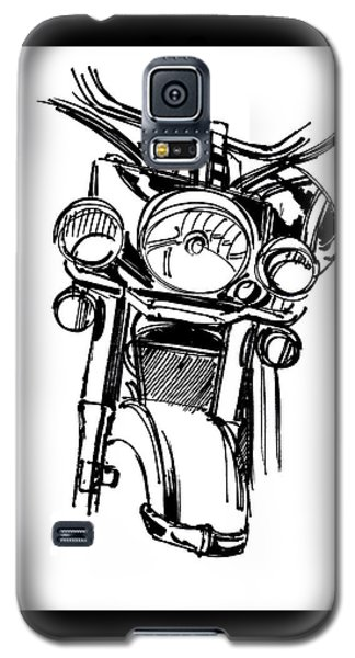 Urban Drawing Motorcycle Galaxy S5 Case by Chad Glass