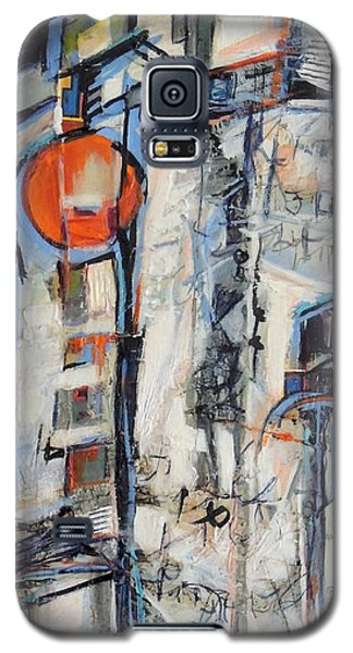 Galaxy S5 Case featuring the painting Urban Street 1 by Mary Schiros