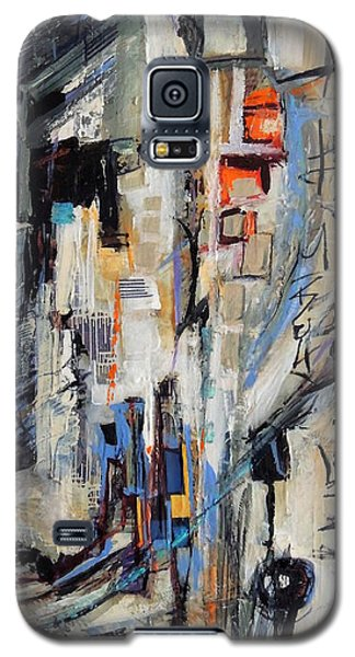 Galaxy S5 Case featuring the painting Urban Street 2 by Mary Schiros