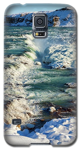 Galaxy S5 Case featuring the photograph Urridafoss Waterfall Iceland by Matthias Hauser