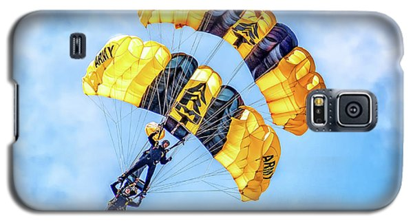 Galaxy S5 Case featuring the photograph U.s. Army Golden Knights by Nick Zelinsky
