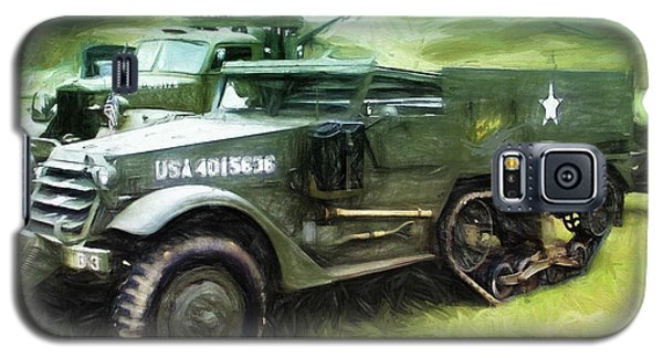 Galaxy S5 Case featuring the painting U.s. Army Halftrack by Michael Cleere