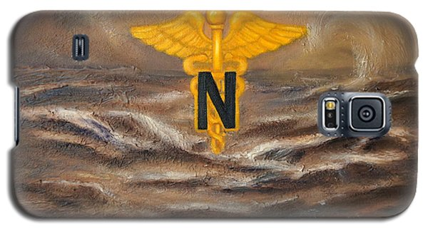 Galaxy S5 Case featuring the painting U.s. Army Nurse Corps Desert Storm by Marlyn Boyd