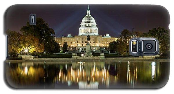 Us Capitol Night Panorama Galaxy S5 Case