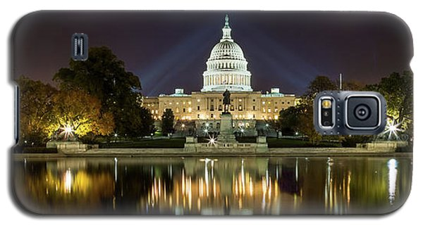 Us Capitol Night Panorama Galaxy S5 Case