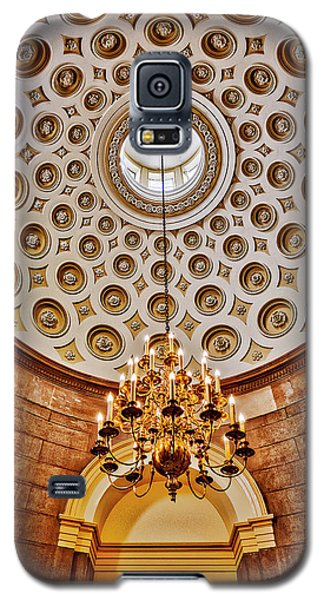 Galaxy S5 Case featuring the photograph Us Capitol Rotunda Washington Dc by Susan Candelario