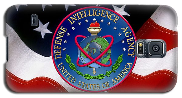 U. S. Defense Intelligence Agency - D I A Emblem Over Flag Galaxy S5 Case
