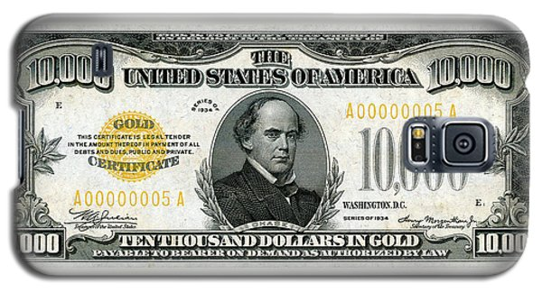 Galaxy S5 Case featuring the digital art U.s. Ten Thousand Dollar Bill - 1934 $10000 Usd Treasury Note by Serge Averbukh