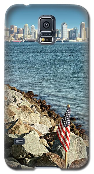 Usa Flag And San Diego Skyline Galaxy S5 Case