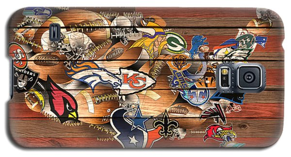 Usa Nfl Map Collage 6 Galaxy S5 Case