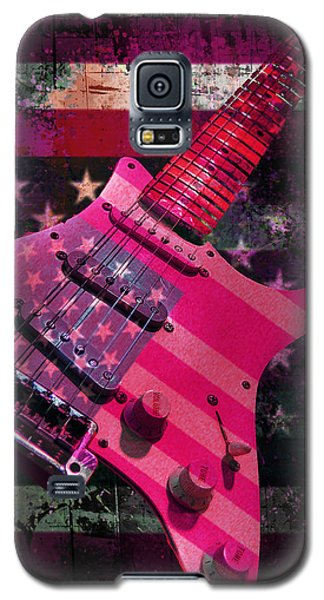 Usa Pink Strat Guitar Music Galaxy S5 Case