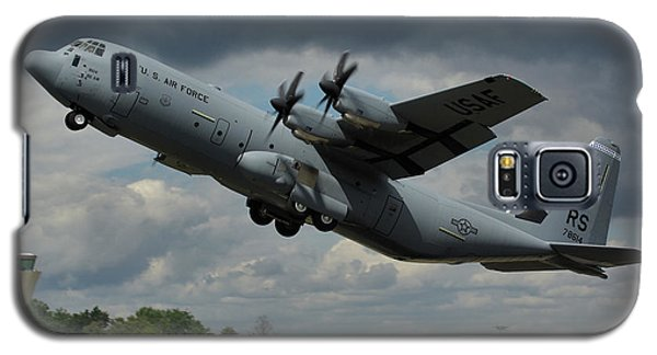 Galaxy S5 Case featuring the photograph Usaf Lockheed-martin C-130j-30 Hercules  by Tim Beach